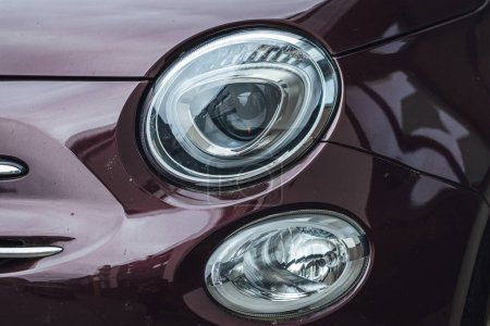 Photo for Car Headlight lamp in close up. Modern transport - Royalty Free Image