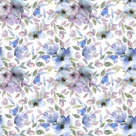 Photo pour Fond floral sans couture. Tissu motif floral. Modèle de motif textile . - image libre de droit