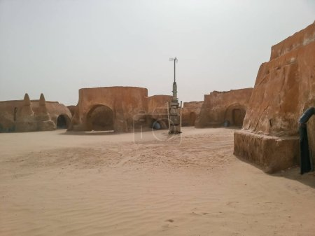 Photo for Tatooine, Mos Espa, Tunisia. The Set of the film Star Wars, Luke Skywalker and Dart Vader - Royalty Free Image