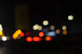 Abstract city Lights orange, red and yellow