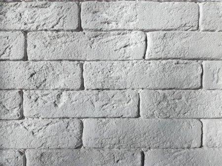 Photo pour Mur de briques blanches close up - image libre de droit
