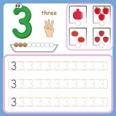 Number cards Counting and writing numbers Learning numbers Numbers tracing worksheet for preschool