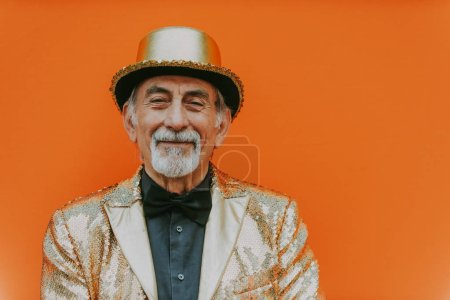 Grandfather portraits on colored backgrounds...
