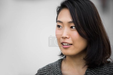 Photo for Portrait of japanese girl on Tokyo streets - Royalty Free Image
