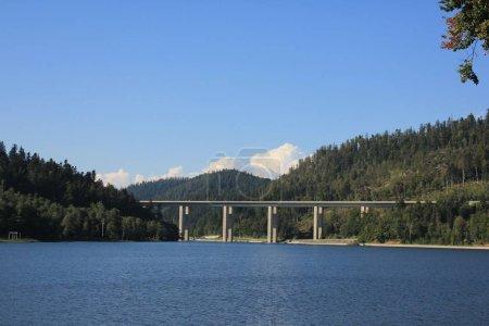 bridge in the mountain countryside