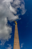 LUXEMBOURG, LUXEMBOURG - MAY 04, 2016: Top of the Monument of Remembrance (the so called