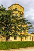 The impressive old observatory in Oxford in sunny autumn day