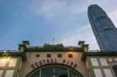 View of the Hong Kong Central Pier on Hong Kong Island