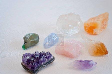 Colorful healing crystals bring positive vibration...