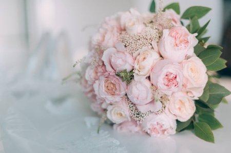 Photo pour Bouquet de mariée de mariage. image tonique vintage - image libre de droit