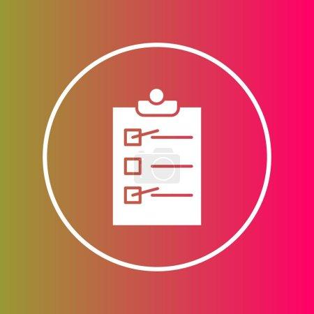 Photo pour Icône de liste de contrôle isolé sur abstrait - image libre de droit