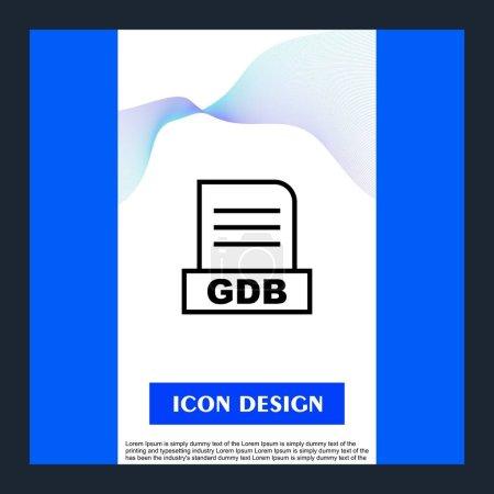 Photo pour Fichier GDB isolé sur fond abstrait - image libre de droit