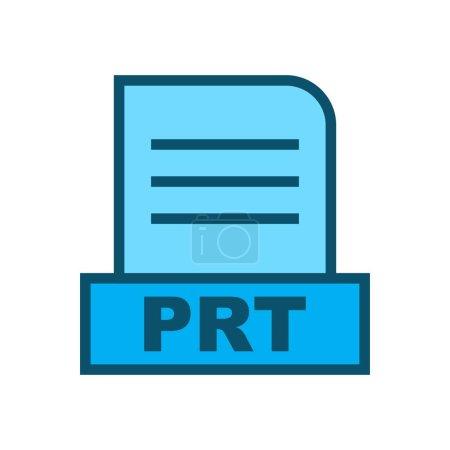 Photo pour Fichier PRT isolé sur fond abstrait - image libre de droit