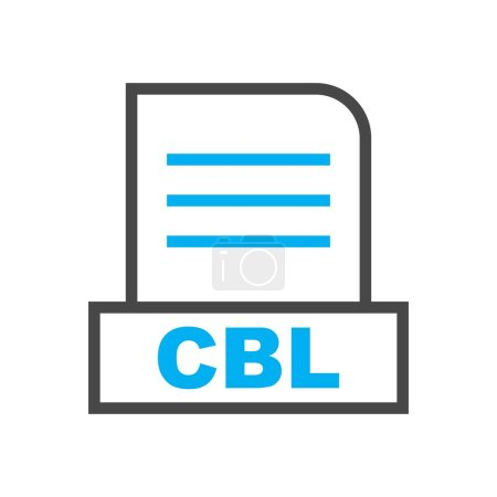 CBL file Isolated On Abstract Background...