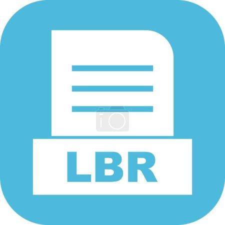 Vector LBR file icon...