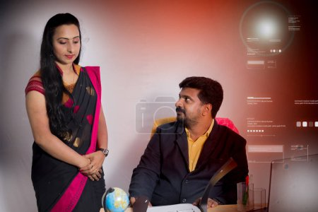 Photo for Portrait of a young couple in the office - Royalty Free Image