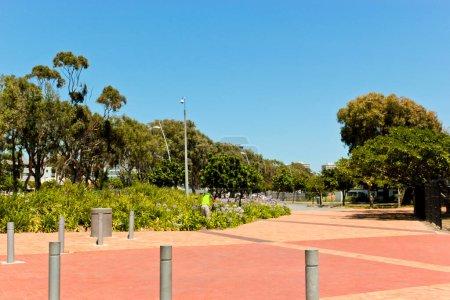 Photo pour Entrée ou chemin vers le parc Green Point au Cap, Afrique du Sud - image libre de droit
