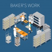 Bakers Factory Isometric Background