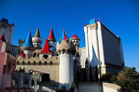 las vegas, nv / usa - 12.09.2018: das excalibur hotel und casino in las vegas. Das Hotel wurde nach König Arthurs Schwert benannt und 1990 eröffnet.