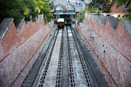 Budapest funicular with Car BS1 Margit for bring H...
