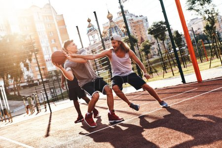 competitive sport, basketball competition, men playing on basketball arena