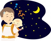 Baby crying at night with crying baby