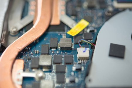 Photo for Closeup shot of circuit board with tools - Royalty Free Image