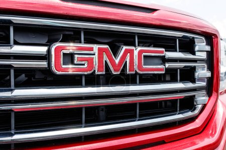 Photo pour Monticello - Circa juin 2018: Gmc camions-concessionnaires. Buick et GMC sont des divisions de Gm j'ai - image libre de droit
