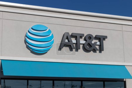 Shelbyville - Circa July 2020: AT&T cell phone retail store. Amid new Social Distancing rules, AT&T is offering curbside service.