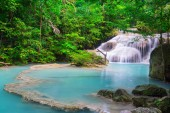 Beautiful waterfall in tropical forest