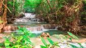 Huay Mae Kamin waterfall at National Park in Thailand