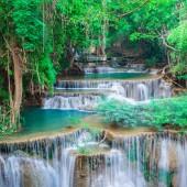 Beautiful waterfall at Kanchanaburi, Thailand
