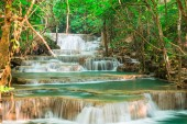 Beaitiful waterfall in the jungle Thailand