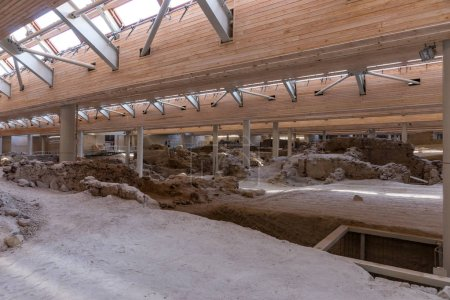 Akrotiri Archaeological Site Museum excavation
