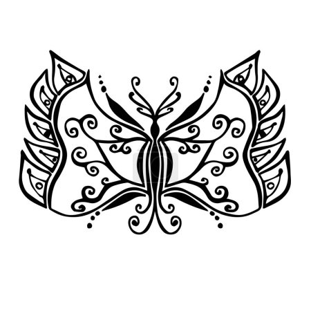 Photo pour Stylized butterfly drawing (vector) - image libre de droit