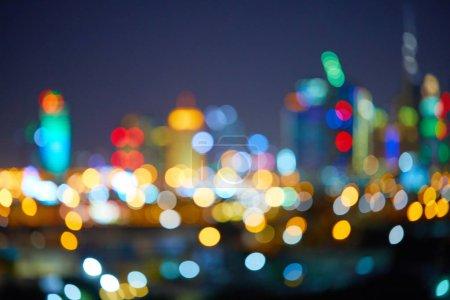 Photo pour Lumières de la ville fond de nuit - image libre de droit