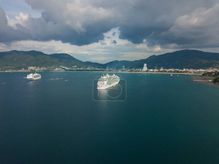 cruise liner with a drone