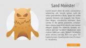 Sand Monster Conceptual Banner Design