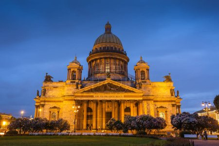 St. Isaac's Cathedral at white night, Saint Petersburg, Russia