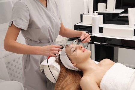 skin care procedures with a young girl