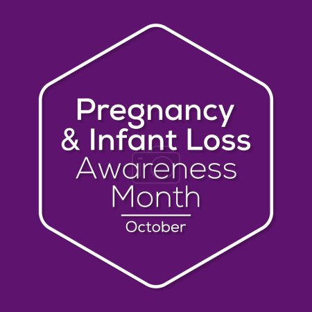 Illustration for Vector illustration on the theme of Pregnancy and infant loss awareness month observed each year during October. - Royalty Free Image