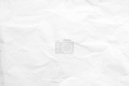 Photo pour Papier froissé blanc texture fond - image libre de droit