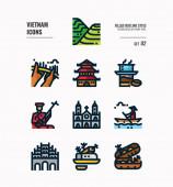 Vietnam icon set 2
