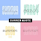 Summer hand drawn brush font letterings Summer typography - bes