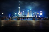 The beautiful view of the Bund in Shanghai