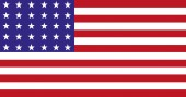 flag of the USA/In the picture the flag of the United States the flag in the vector with 50 brands national consciousness independence patriotism