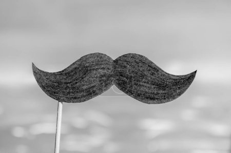 Symbol of Movember. Poster and banner. Awareness of men's health issues, such as prostate cancer.