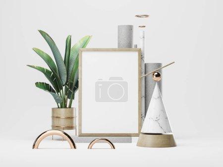 Plakatrahmen-Attrappe. 3D-Illustration