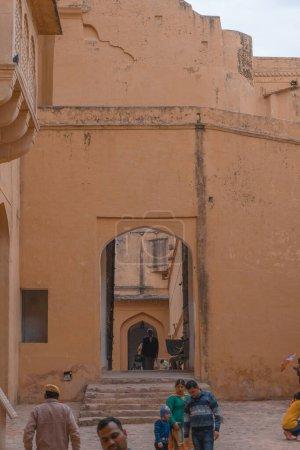 Photo pour Vue sur le célèbre bâtiment de la vieille ville de Jersey, Israël - image libre de droit