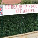 Cercie, France - November 20, 2018: Banner with Ne...
